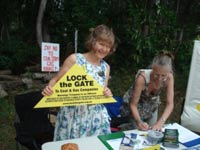 deborah no coal seam gas stall