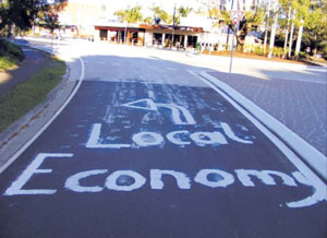 Shop Local Signs Popping Up Around Mullumbimby