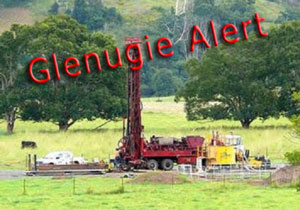 Drill Rig And Police At Glenugie Blockade