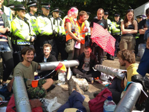 Balcome UK Protesters stop CSG Drilling